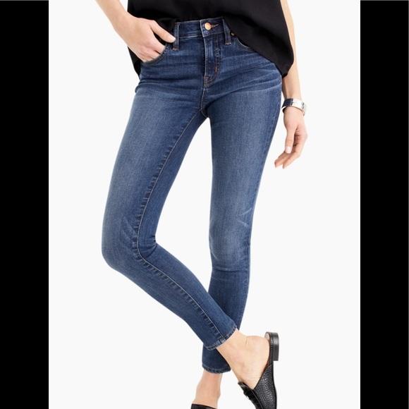 J Crew Toothpick Ankle dark wash jeans 28